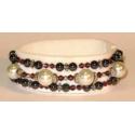 Magnetteapi armbånd med hvide perler