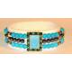 Magnetarmbånd med turkise perler
