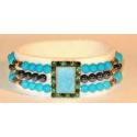 Magnetterapi armbånd med turkise perler