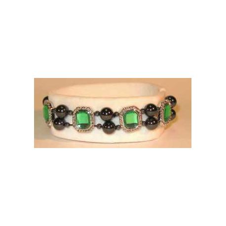 Magnetarmbånd med grønne perler