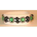 Magnetterapi armbånd + grønne perler