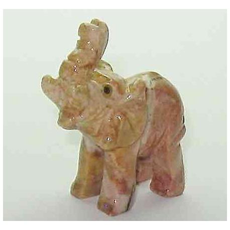 Lykke elefant i marmor