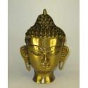 Buddha 19 cm. hoved i messing