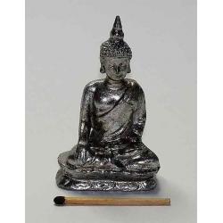 Sølvfarvet Buddha 07,5 cm. c