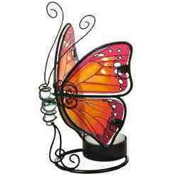 Sommerfugl lysestage, rød