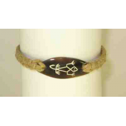 Talisman bracelet with lizard