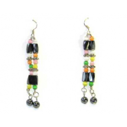 Magnetic therapy earring med multicolored perler