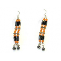 Magnetic therapy earring med orange perler