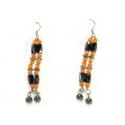 Magnetterapi ørehænger + orange perler