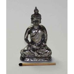 Buddha 07,5 cm. Sølvfarvet a