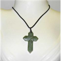 Jade Grøn kors halskæde
