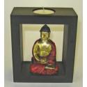 Buddha 13 cm. Lysestage