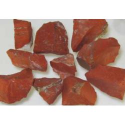 Jaspis, rød rå