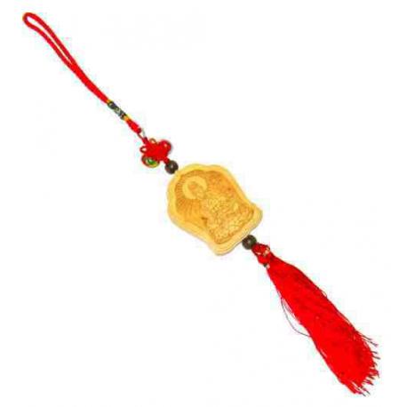 Kuan Yin amulet i træ