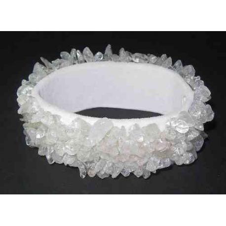Bredt Bjergkrystal Beads armbånd