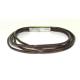 Læder armbånd med magnet lås