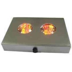 LED Lys base med farve skift, 2 x 3 dioder