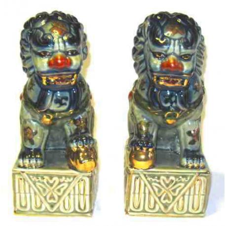 Fu Dogs - Tempelløver i porcelæn
