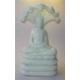 Buddha 32 cm. med slange, i sten